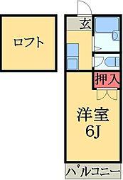 千葉県市原市八幡石塚1丁目の賃貸アパートの間取り