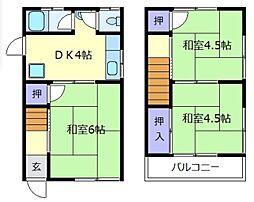 [一戸建] 大阪府羽曳野市高鷲9丁目 の賃貸【/】の間取り