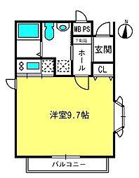 桜ハウス[101号室]の間取り