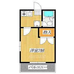 多川マンション[304号室]の間取り