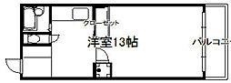 リフレ城南[305号室]の間取り