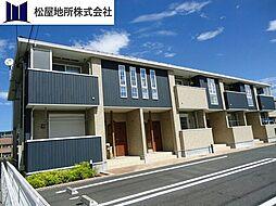 愛知県豊橋市大岩町字岩田の賃貸アパートの外観