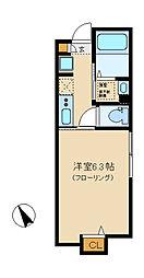 SUNNY HILL COURT中野坂上 1階1Kの間取り
