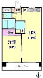 シャトレ飯田[202号室]の間取り