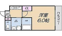 大阪府大阪市西成区天下茶屋3丁目の賃貸アパートの間取り