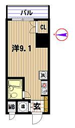 日興パレス横浜[213号室]の間取り