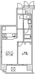 メロディーハイム銀座東[6階]の間取り