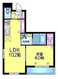 JR総武線 小岩駅 徒歩11分の賃貸マンション 1階1LDKの間取り