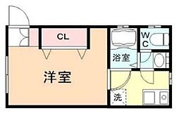 KAWAMURA HOME 2階1Kの間取り