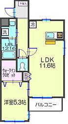 ラフォーレ湘南II[1階]の間取り