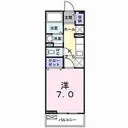 愛知県豊橋市神野新田町字ハノ割の賃貸アパートの間取り