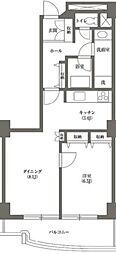 文京グリーンコートビュータワー本駒込 A棟 4階1LDKの間取り