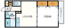 チャコーレ岡本[2階]の間取り