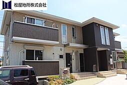愛知県豊橋市西岩田1丁目の賃貸アパートの外観