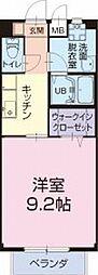 愛知県岩倉市八剱町岩塚の賃貸アパートの間取り