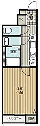 西武池袋線 ひばりヶ丘駅 徒歩28分の賃貸アパート 1階1Kの間取り
