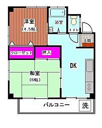 山王台マンション第1棟[2階]の間取り