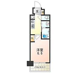 Osaka Metro御堂筋線 西中島南方駅 徒歩8分の賃貸マンション 12階1Kの間取り