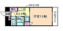 エトワール北梅田[5階]の間取り