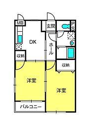 埼玉県さいたま市西区大字二ツ宮の賃貸アパートの間取り