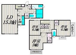 [テラスハウス] 東京都杉並区高井戸東1丁目 の賃貸【/】の間取り