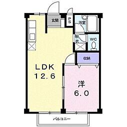 神奈川県平塚市西真土3丁目の賃貸アパートの間取り