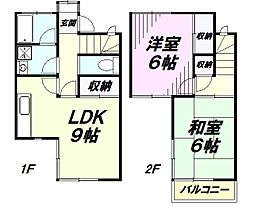 [テラスハウス] 埼玉県所沢市小手指南3丁目 の賃貸【/】の間取り