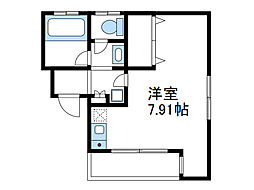 神奈川県海老名市河原口1丁目の賃貸アパートの間取り