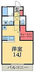千葉県千葉市緑区おゆみ野中央1の賃貸アパートの間取り