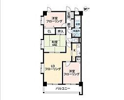 埼玉県和光市白子3丁目の賃貸マンションの間取り