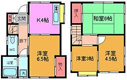 [テラスハウス] 千葉県市川市大野町4丁目 の賃貸【/】の間取り