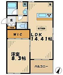 神奈川県川崎市麻生区はるひ野2丁目の賃貸アパートの間取り
