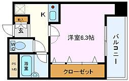 セレーノ井田[702号室]の間取り