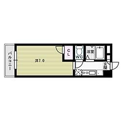レイクサイドコスモ[5階]の間取り