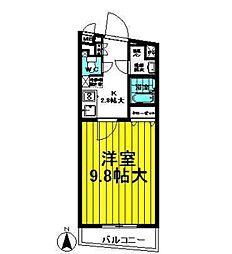 ラガール七隈[802号室]の間取り