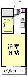 東武東上線 朝霞駅 徒歩17分の賃貸マンション 3階ワンルームの間取り