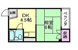 サンハイツ長田[2階]の間取り