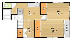 シェークスピア神戸[4階]の間取り