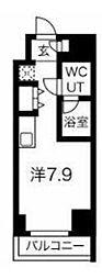 JR京浜東北・根岸線 川崎駅 徒歩4分の賃貸マンション 7階ワンルームの間取り
