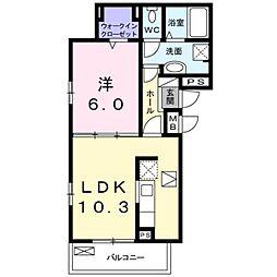 泉北高速鉄道 光明池駅 徒歩21分の賃貸アパート 1階1LDKの間取り