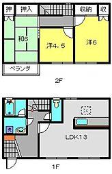 [テラスハウス] 神奈川県横浜市神奈川区片倉2丁目 の賃貸【/】の間取り