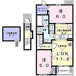 ハイランドヴィレッジ II A[202号室]の間取り