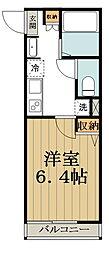 (仮称)中野区大和町計画 1階1Kの間取り