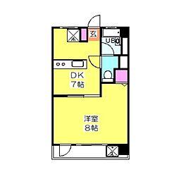 日吉第参コーポB棟[415号室]の間取り