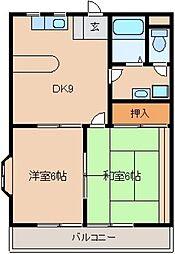 東京都東大和市仲原4丁目の賃貸マンションの間取り