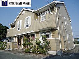 愛知県豊橋市船渡町字船渡の賃貸アパートの外観