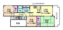 サンパレス21池田[2階]の間取り