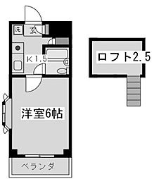 シャトーブラン[3階]の間取り
