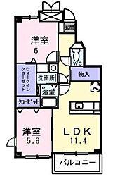 アリアステージ[3階]の間取り