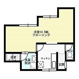 福岡県福岡市中央区警固3丁目の賃貸アパートの間取り